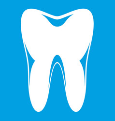 Human tooth icon white vector