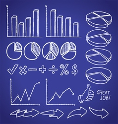 info chart doodle vector image