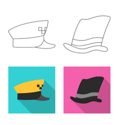 Isolated object of headgear and cap logo vector