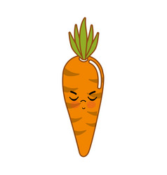 Kawaii cute angry carrot vegetable vector