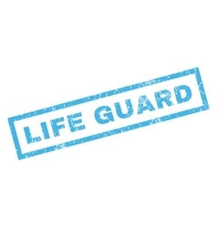 Life guard rubber stamp vector