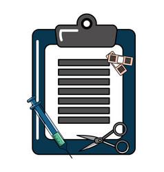 Medical history design vector