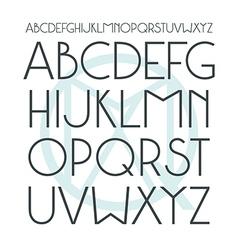 Medium sans serif font in classic style vector