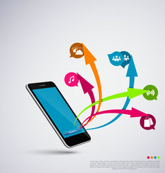 Mobile application vector image