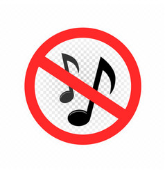 no music sign symbol icon vector image