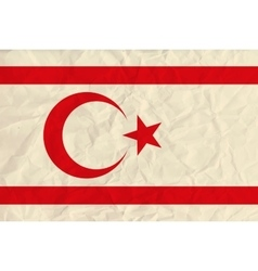 Northern cyprus paper flag vector image