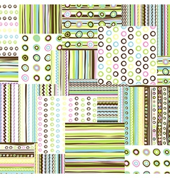 Patchwork fabric background vector