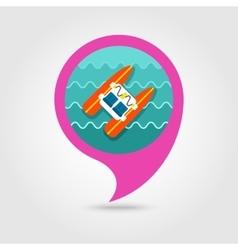 Pedalo boat beach pin map icon Summer Vacation vector