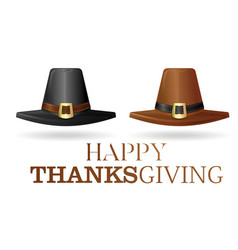 pilgrims hat set vector image