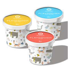 Play dough ice cream snack or toys recycl vector