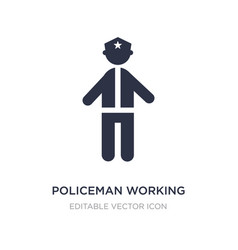 Policeman working icon on white background simple vector