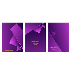 purple abstract geometric backgrounds set vector image
