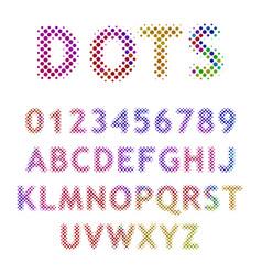 raster letters vector image