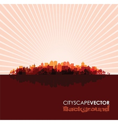 red cityscape vector image vector image