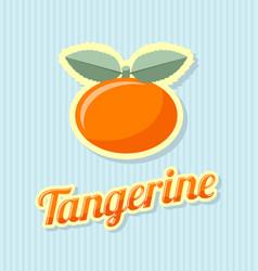 retro tangerine on striped background vector image
