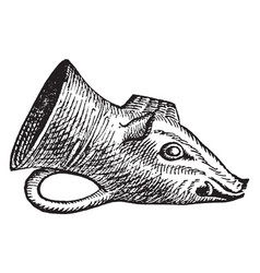 Rhyton is a type of ceremonial drinking cup vector