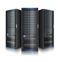 row network servers vector image