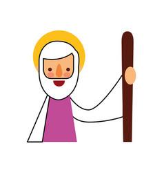 Saint joseph father spiritual cartoon christmas vector