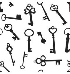 Seamless background with the keys vector
