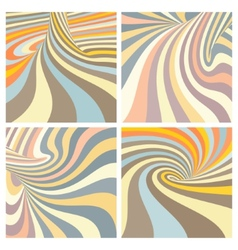 Set of colorful striped projection on torus vector image