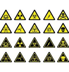 Set warning signs vector