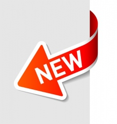 sign new on the arrow vector image vector image