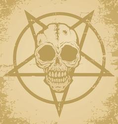 Skull paper vector