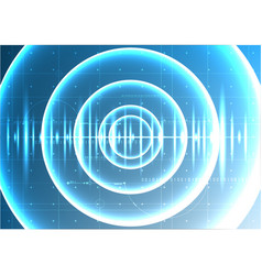 Technological abstract digital blight wave signal vector