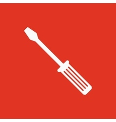 The screwdriver icon Settings symbol Flat vector image