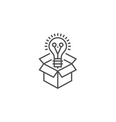 Think outside thin line icon vector