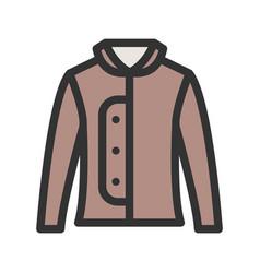 Warm jacket vector