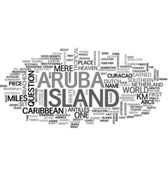 Where is aruba text word cloud concept vector