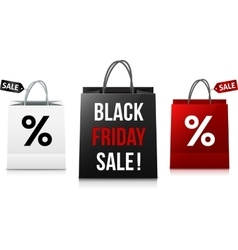 White black and red Black Friday Sale shopping vector image vector image