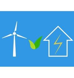 Wind turbine as eco source of energy vector image