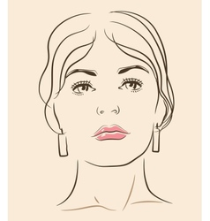 woman face vector image