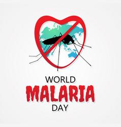 World malaria day letter for element design vector