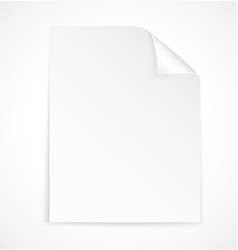 Blank letter paper icon vector image vector image