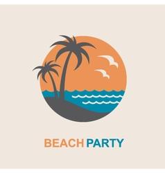 emblem of summer vacation vector image vector image