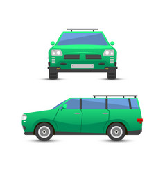 flat green car vehicle type design sedan style vector image vector image