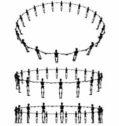 skeleton rings vector image