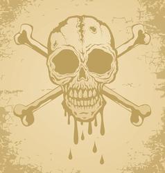 Skull paper vector image vector image