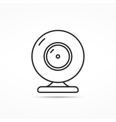 Webcam Line Icon vector image vector image