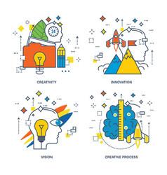 creativity innovation vision creative process vector image vector image