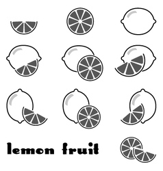 lemon icons vector image