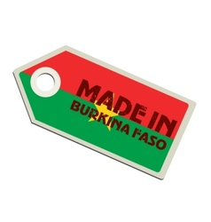 Made in Burkina Faso vector image