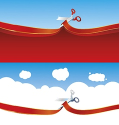 Opening vector image vector image