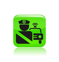 roadblock single icon vector image vector image