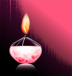 Romantic candle vector