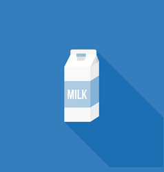 milk carton paper packaging icon vector image vector image