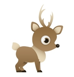 Reindeer on a white background vector image vector image